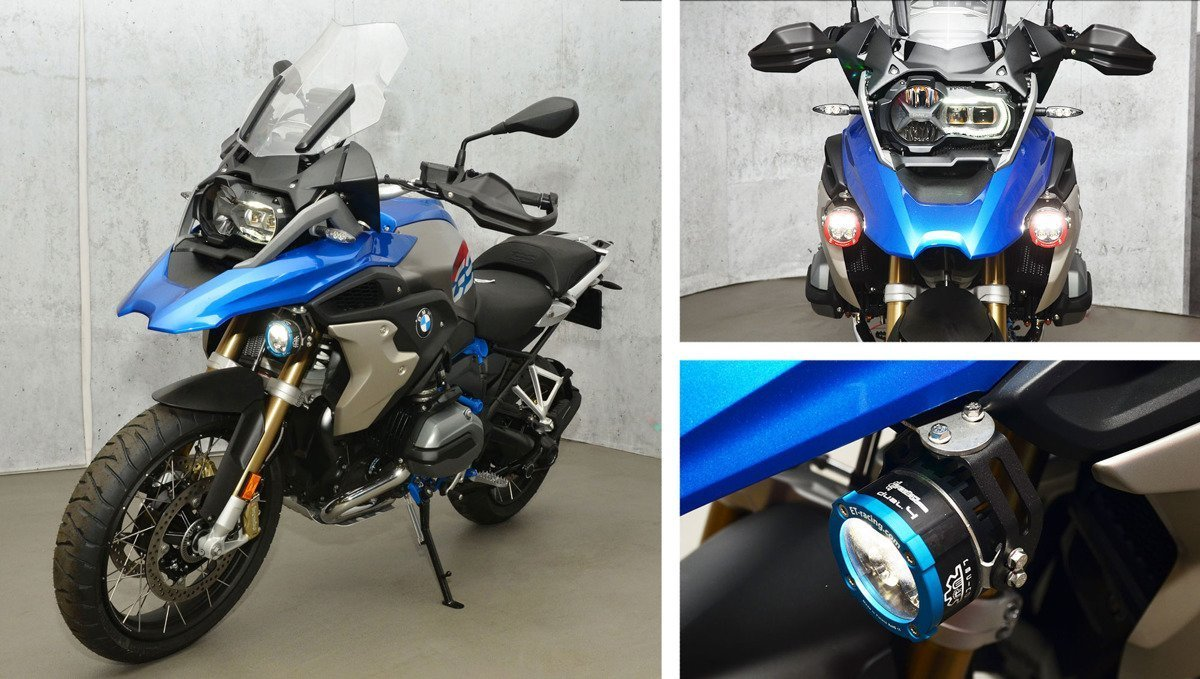 Set 2x Dual.4 Lamp with mount for BMW GS 1250 + GJ-CAN