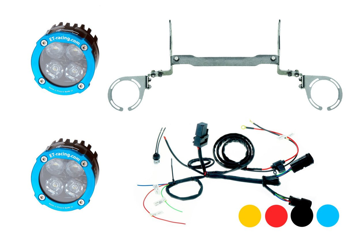 Set 2x Led Lamp Dual.4 with mount for KTM 950 / 990 ADV + harness