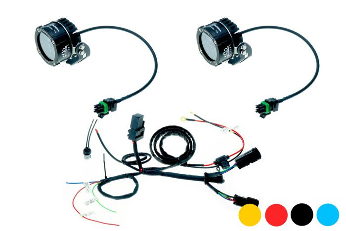 Set 2x Led Lamp Dual.4 with standard mount + harness