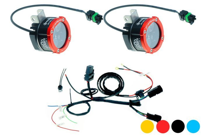 Zestaw 2x Lampa Led Dual.4 z mocowaniem w miejsce oryginalnych halogenów BMW + wiązka